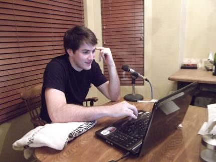 Shaun pretending he isn't a camera whore. (July 2011)