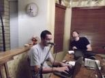 Chris and Shaun in studio. (July 2011)