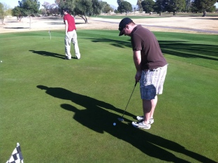 And now, a boring golf shot.