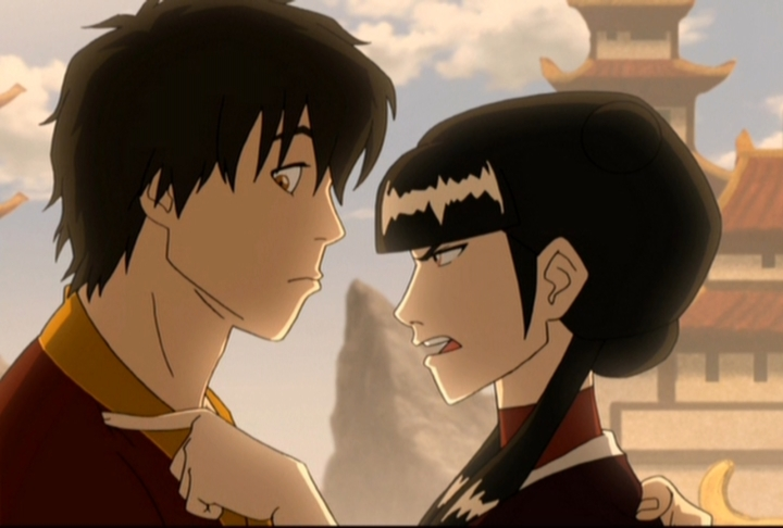 Mai gives Zuko a stern warning