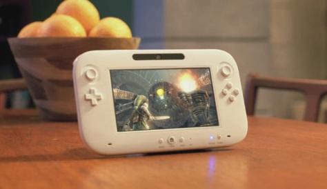 The Wii U Zelda tablet.