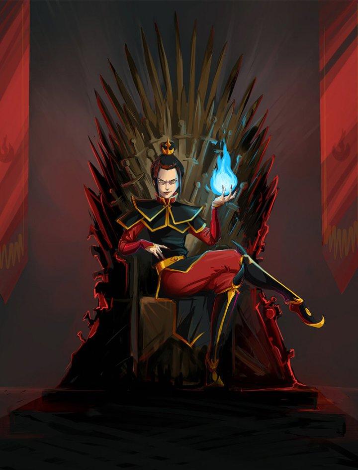 Azula on the Iron Throne by kissyushka