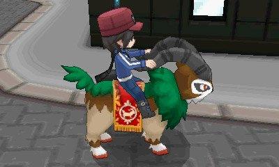 Riding Pokemon