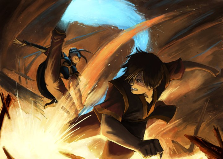 Zuko vs Azula by thevampiredio