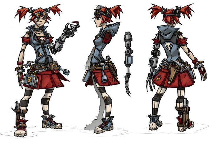 Early concept art for Gaige.