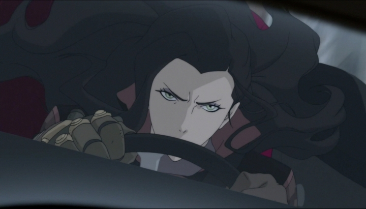 When Asami drive angry...
