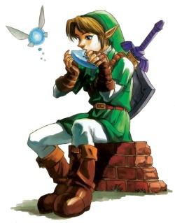 Link and Navi official artwork