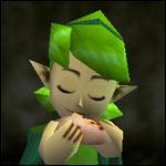 Saria playing her ocarina