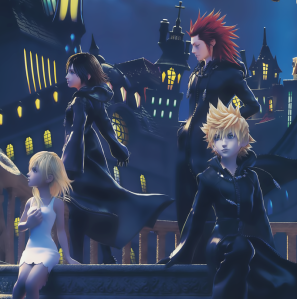 I guess Roxas was having some problems with the hair dye – it's the only explanation for how orange his hair looks.